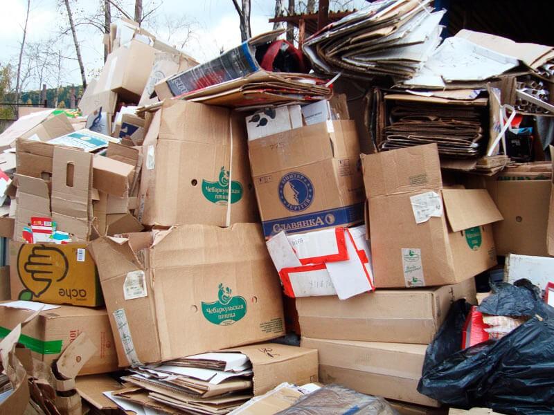 Вывоз картона и пленки 1