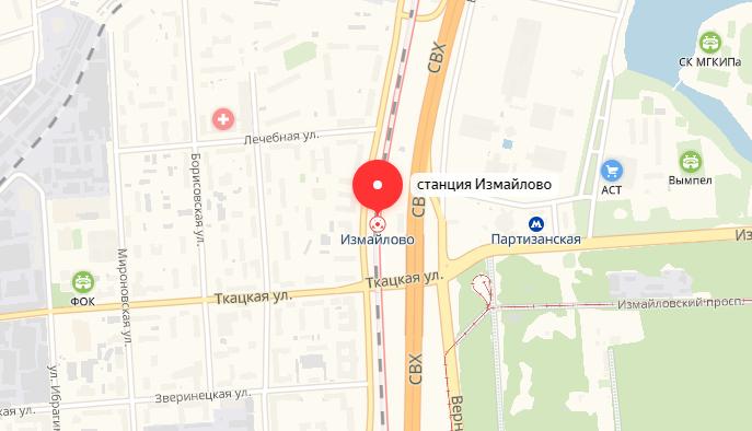 метро Измайлово